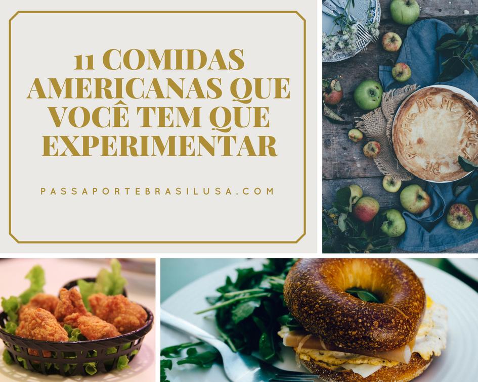 comidas americanas que você tem que experimentar