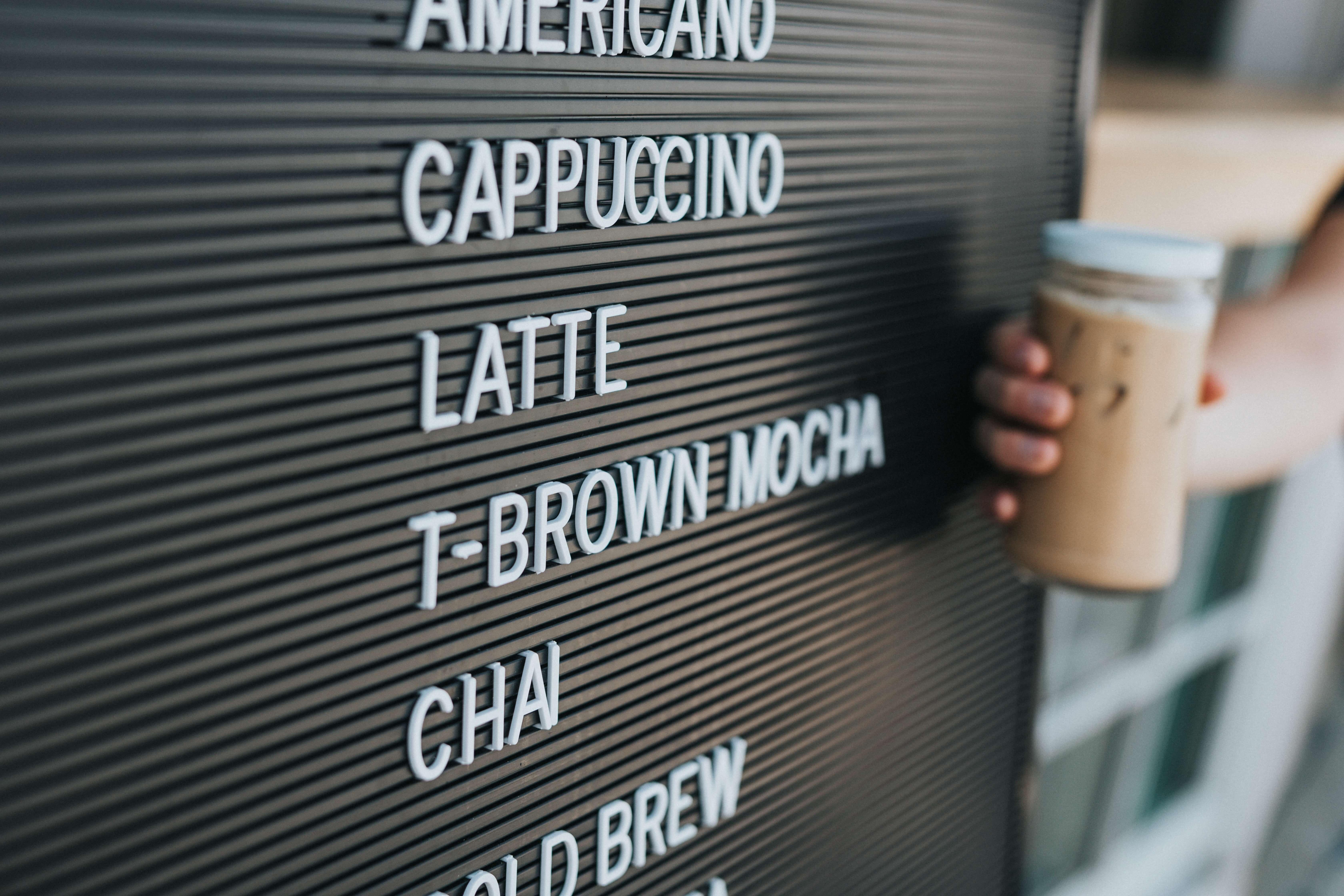 tipos de cafe vendidos nos EUA