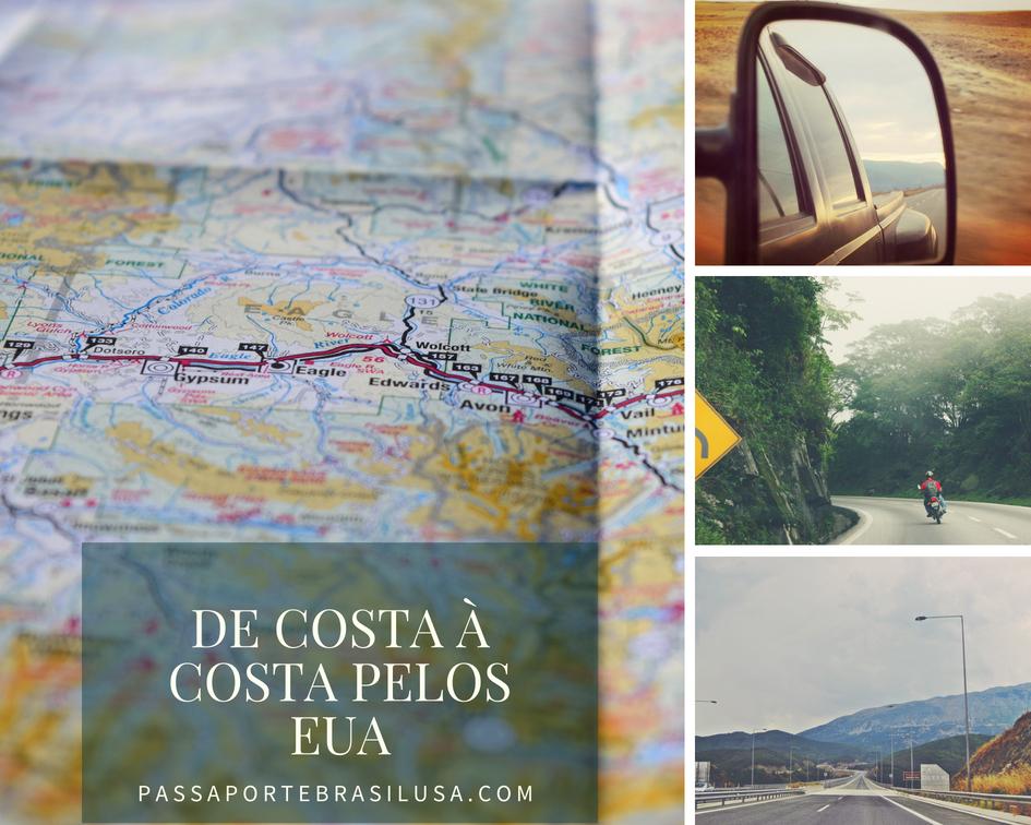 viagem de costa a costa dos EUA