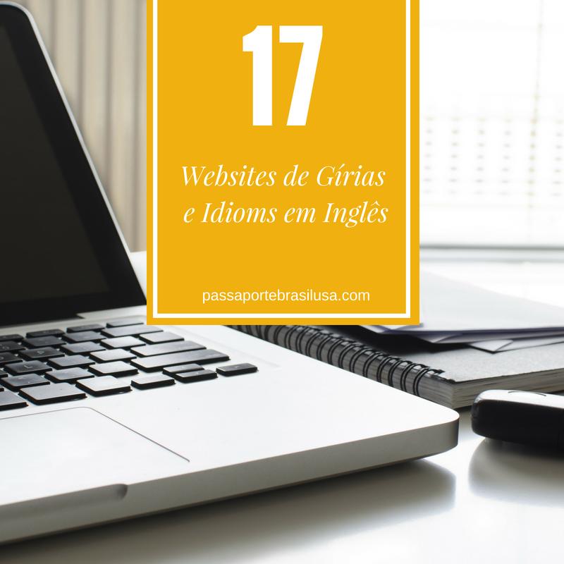 websites de gírias e de idioms em inglês